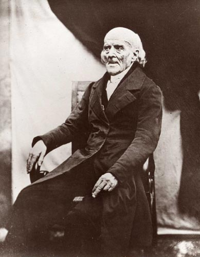 Samuel Hahnemann, inventor of homeopathy, in 1841