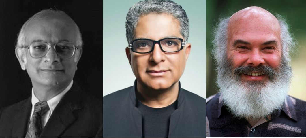 Rustum Roy, Deepak Chopra, and Andrew Weil, the unholy trinity of CAM