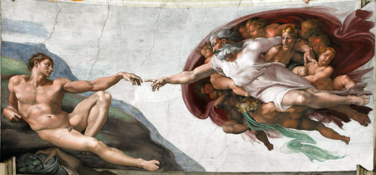 Creation of Adam Sistine Chapel