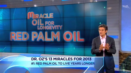 Red Palm Oil Dr. Oz