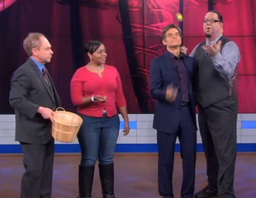 Dr. Oz with Penn and Teller