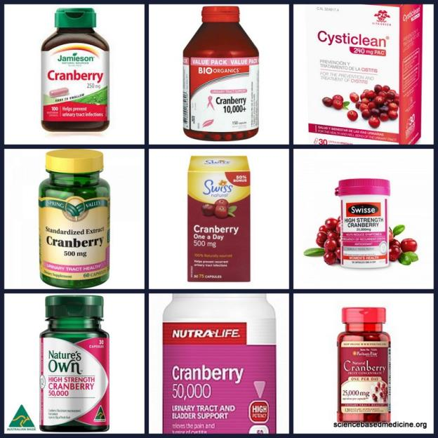 Cranberry capsules to prevent or treat urinary tract infections? Stop.