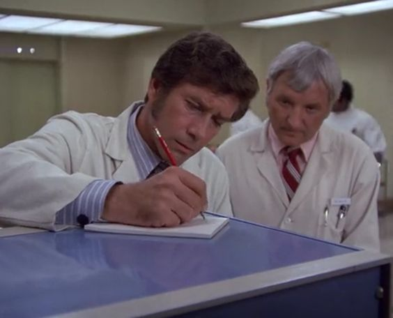 You can be sure that Dr. Brackett is not writing an order for emergency acupuncture. If he did, you can be equally sure that Dr. Early (watching) would slap him upside the head.