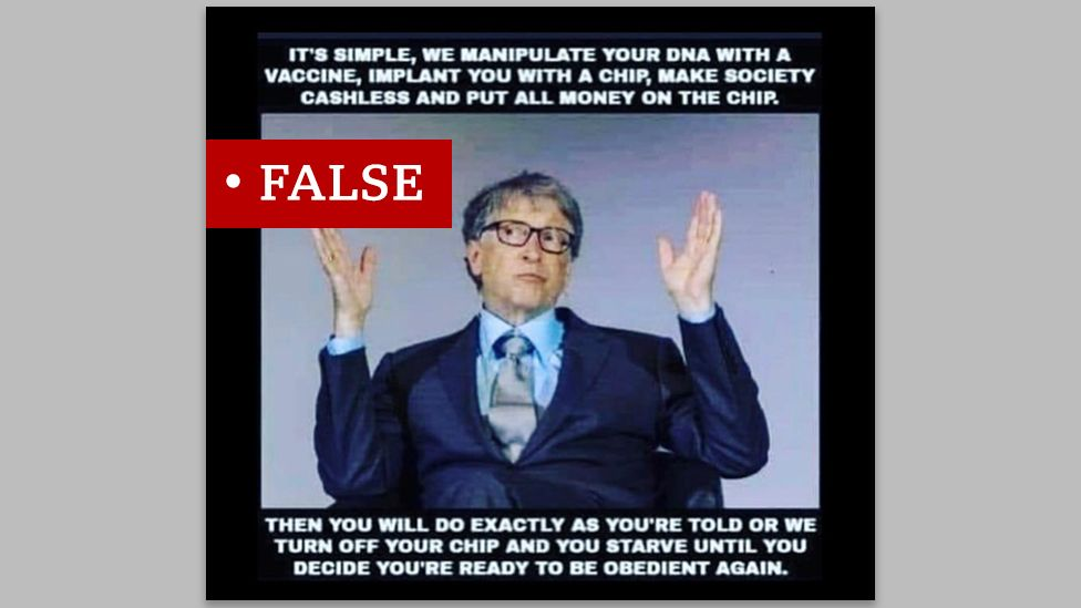 False Bill Gates antivaccine meme