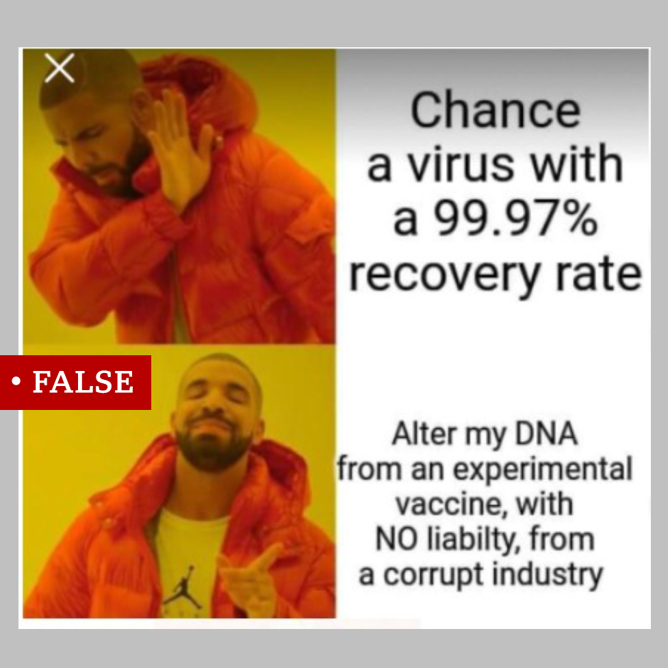 False mRNA COVID vaccine meme